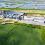 Sustainability, warehouse and fields
