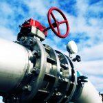 Industrial steel pipeline and valve