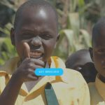 The Safe Water Project- Image of three African children, centre child is giving a thumbs-up