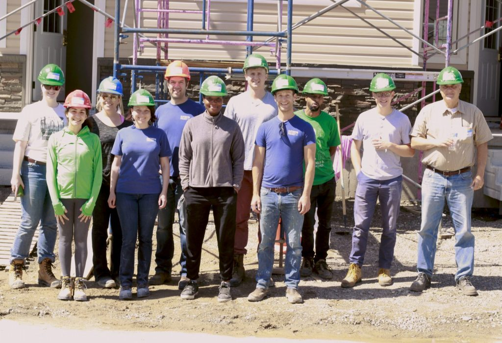 Group shot of volunteers at habitat build