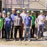 Group shot of volunteers at habitat build