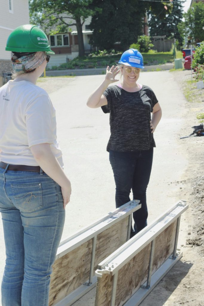 Erin & Christy at habitat build